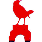 Red Bird Wall Hook